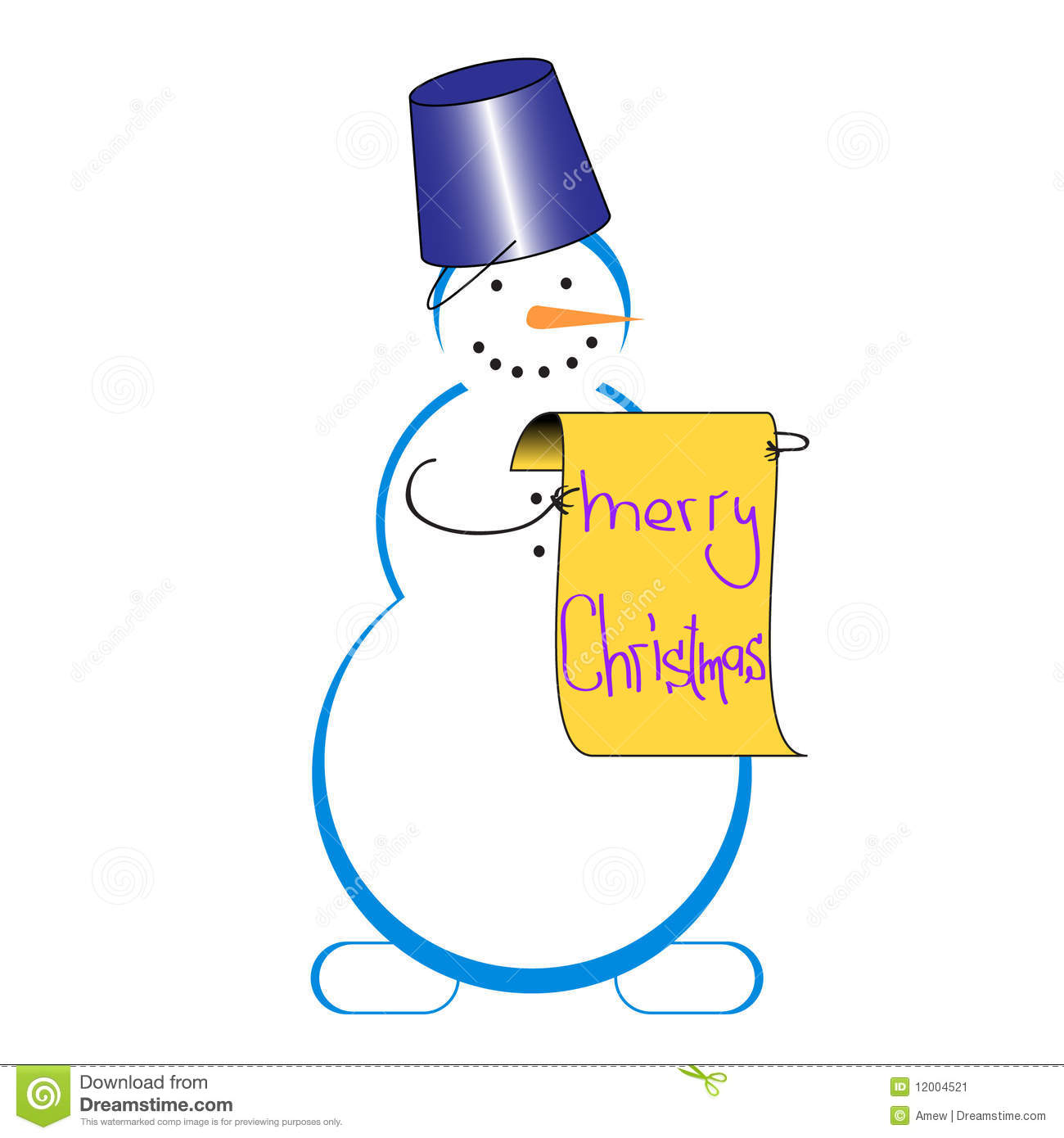 snowman with congradulations stock illustration