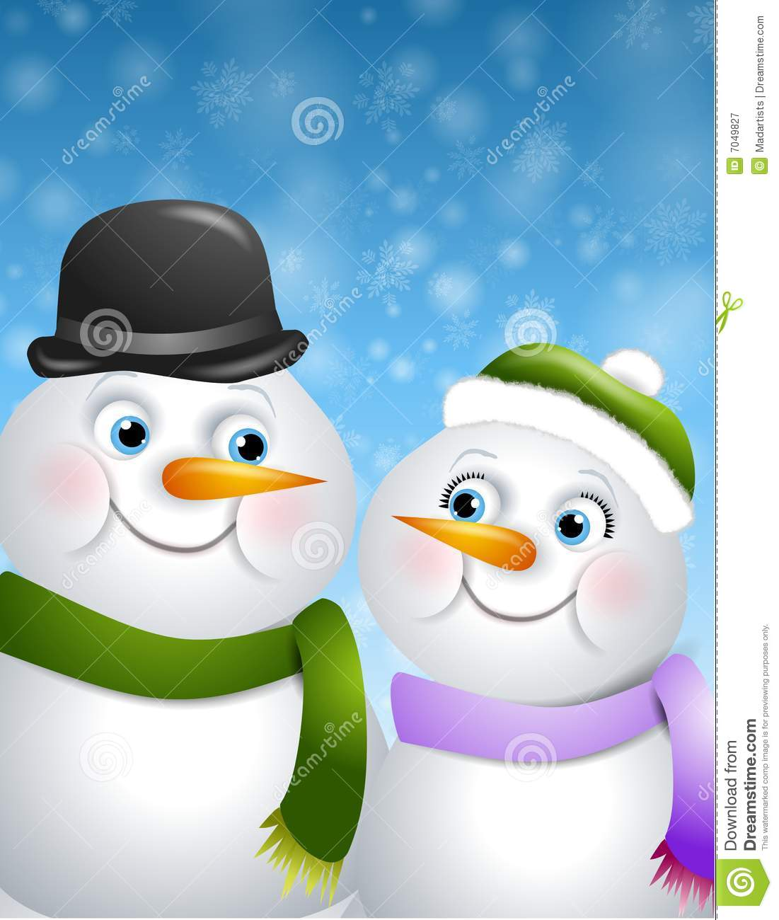 Snowman Couple   Mailbox Happiness-Angee at Postcrossing   Flickr