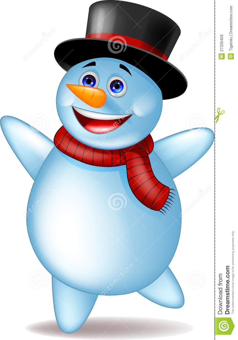 snowman dancing royalty free stock images