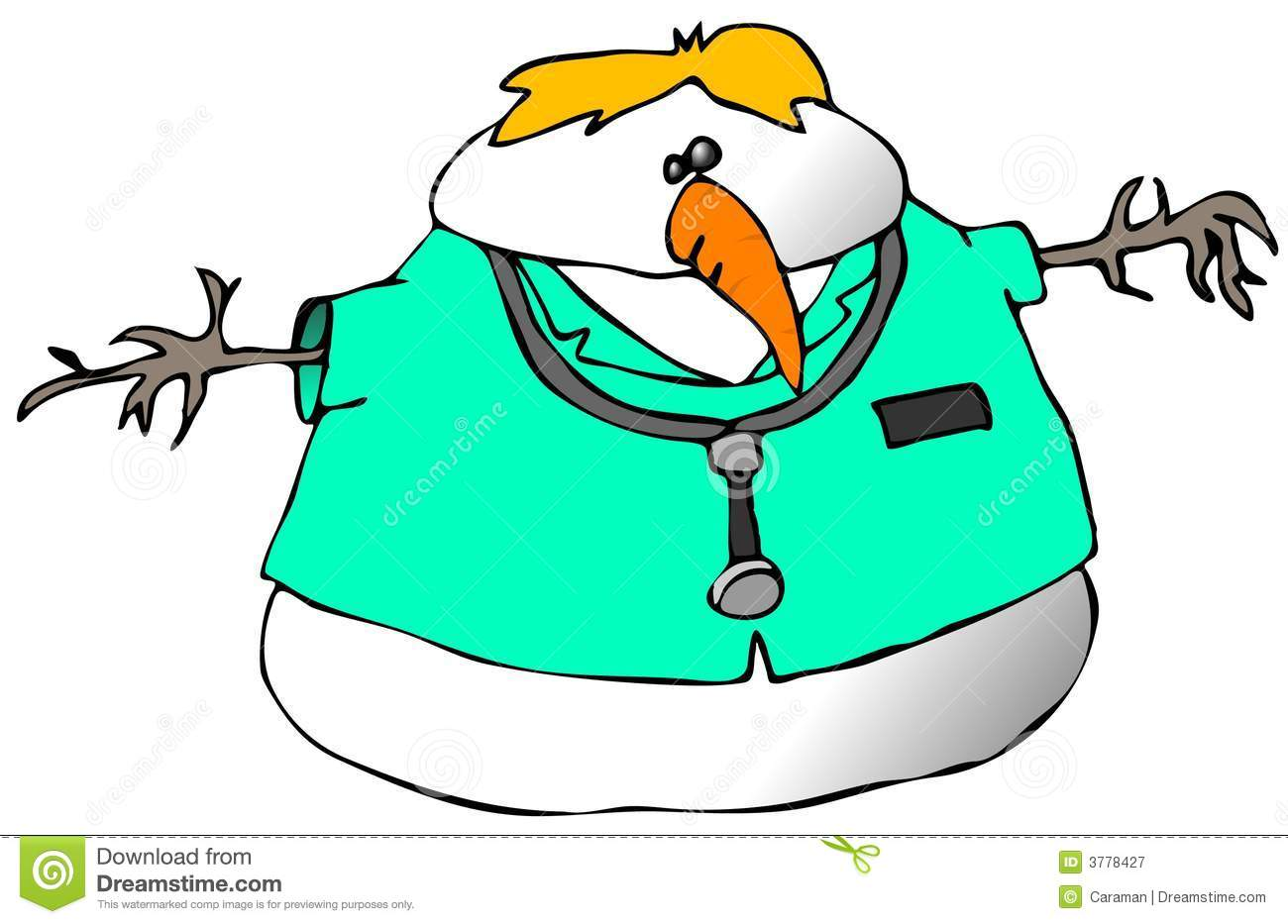 Snowman Doctor Royalty Free Stock Photography Image 3778427