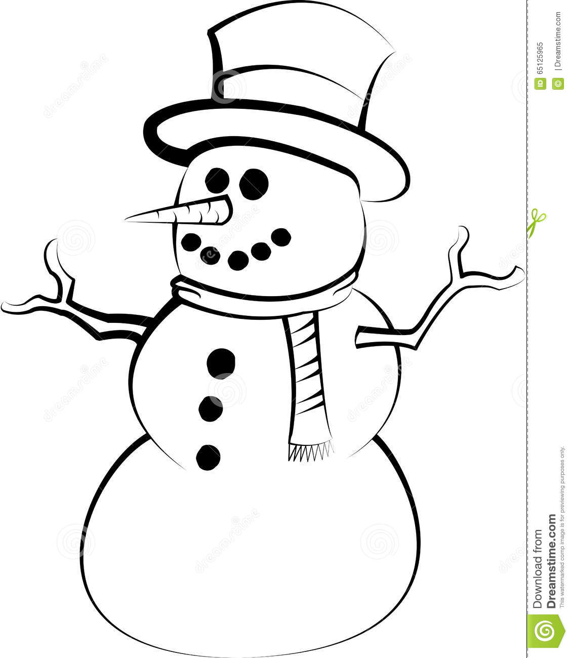 Uncategorized Drawing Of A Snowman snowman drawing illustration 65125965 megapixl drawing