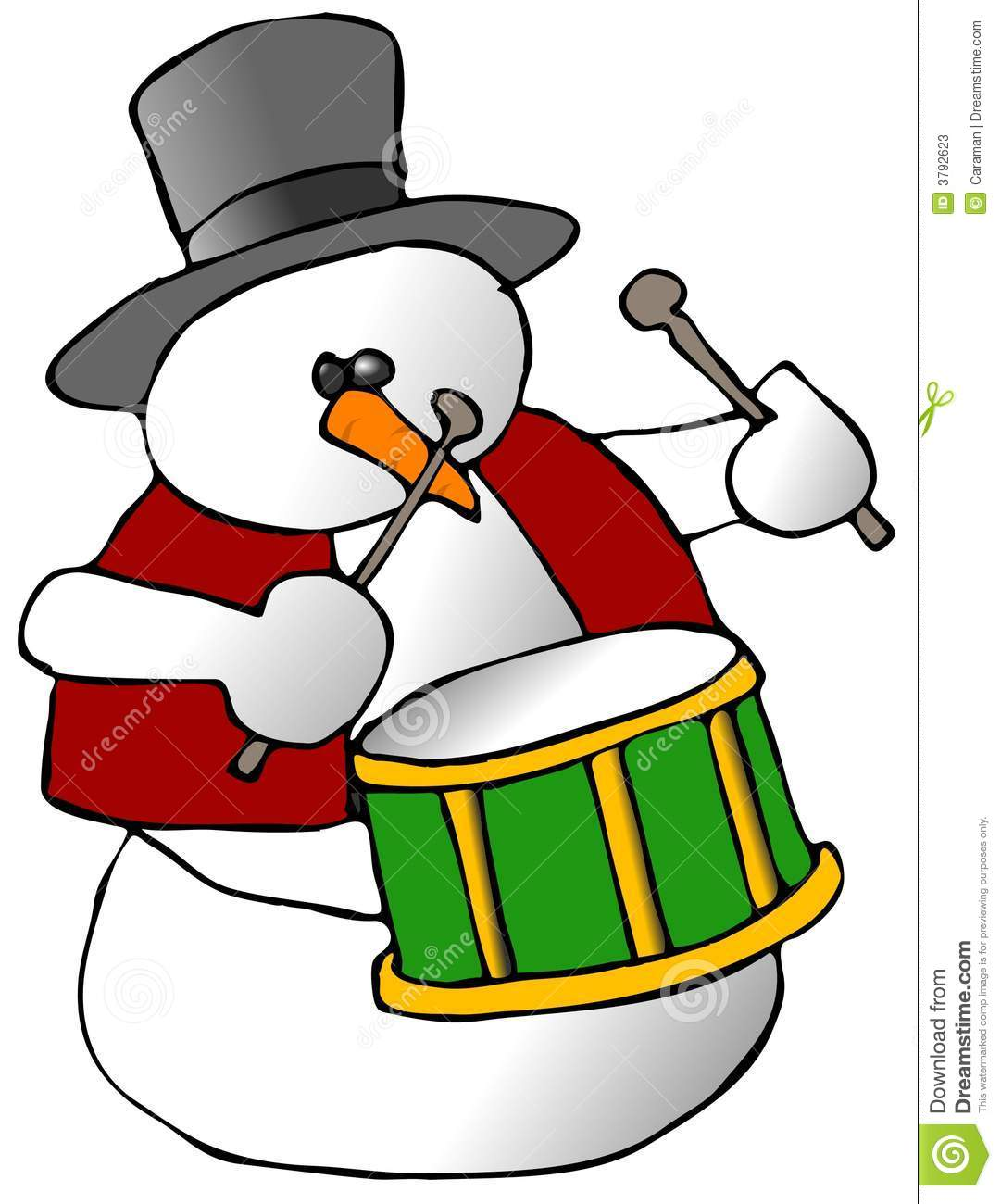 snowman drummer stock photos image 3792623 snare drum clip art free snare drum clip art free
