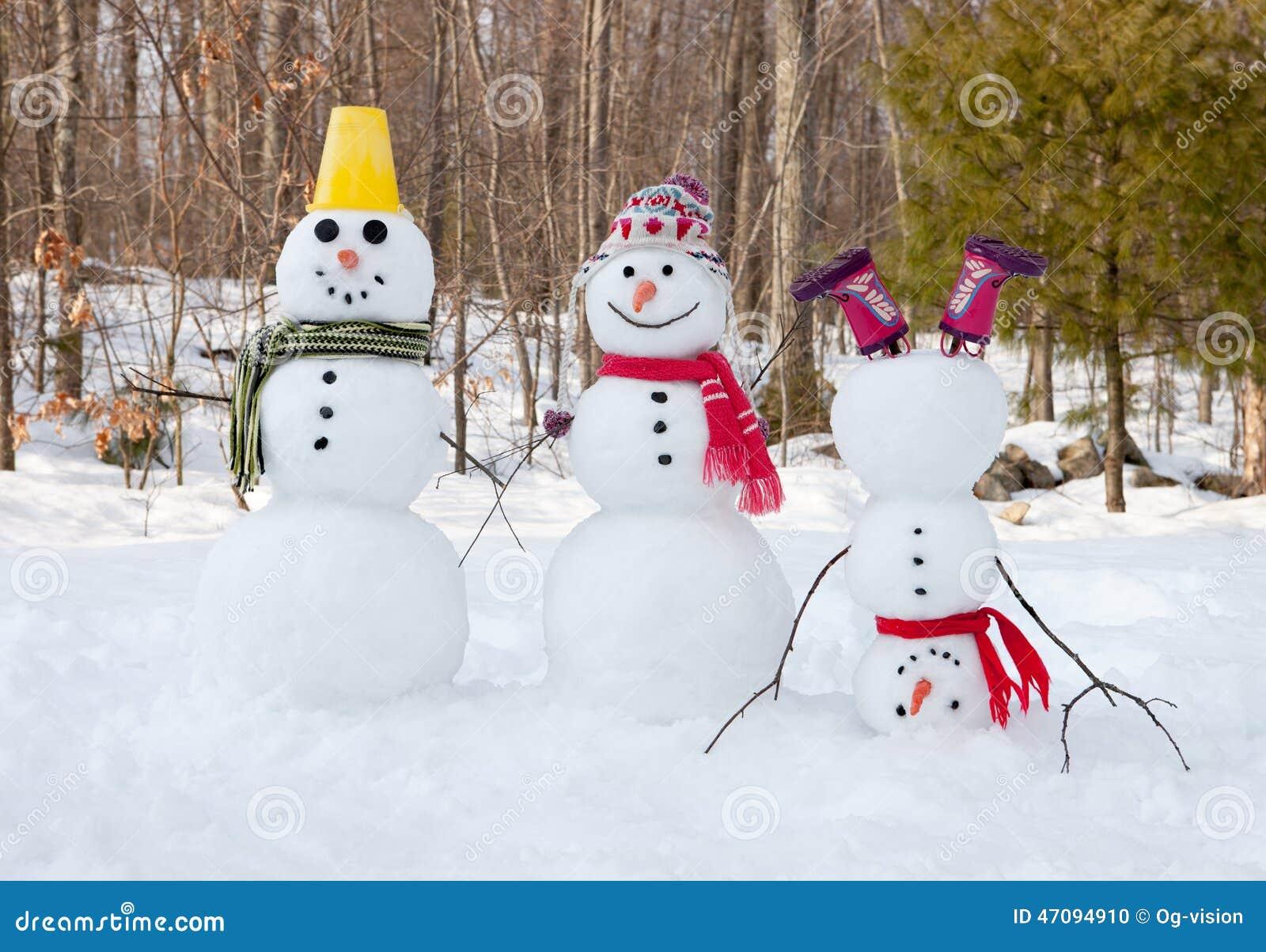 Snowman Family Stock Photo Image Of Couple Christmas