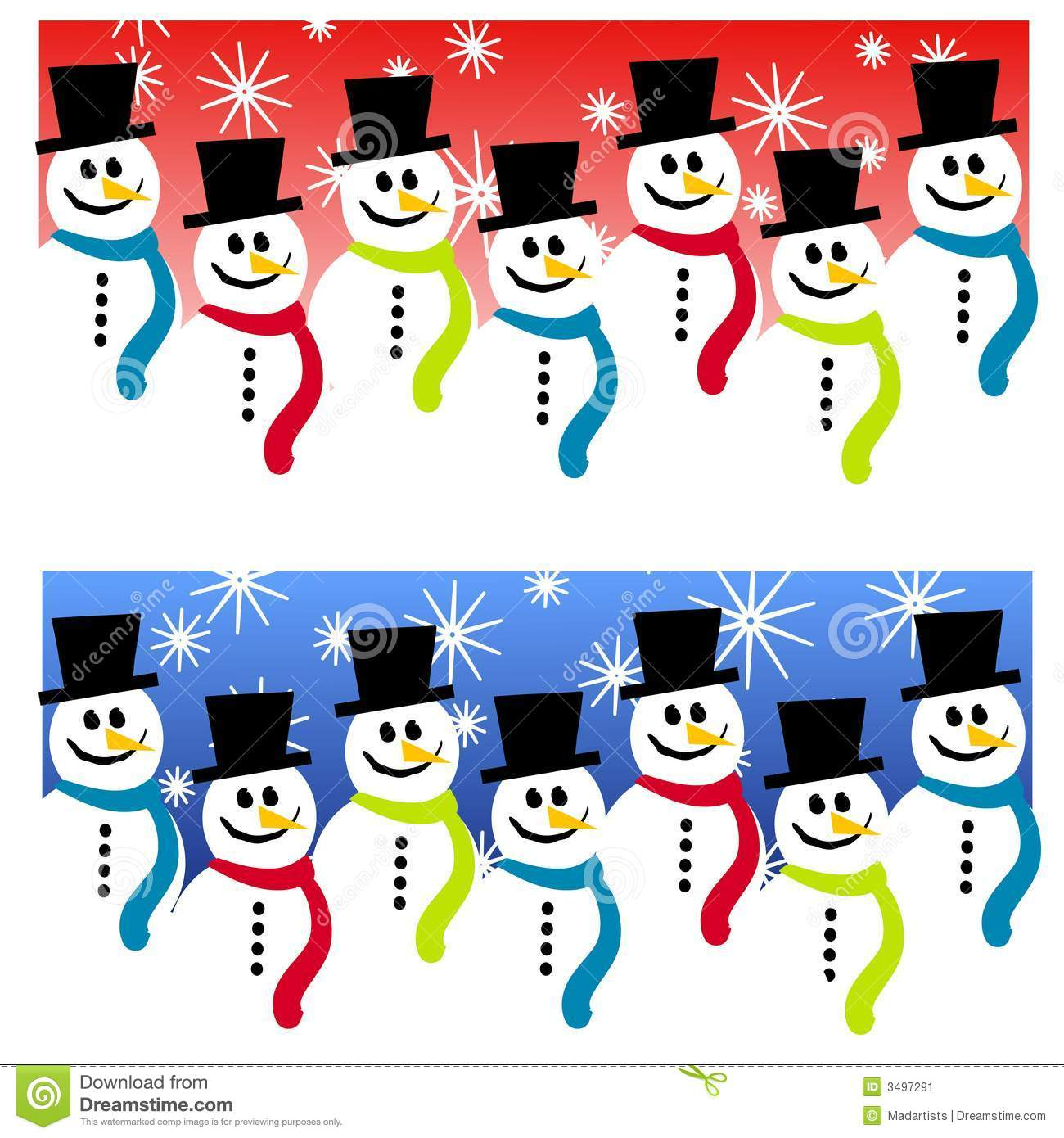 snowman header backgrounds stock image image 3497291
