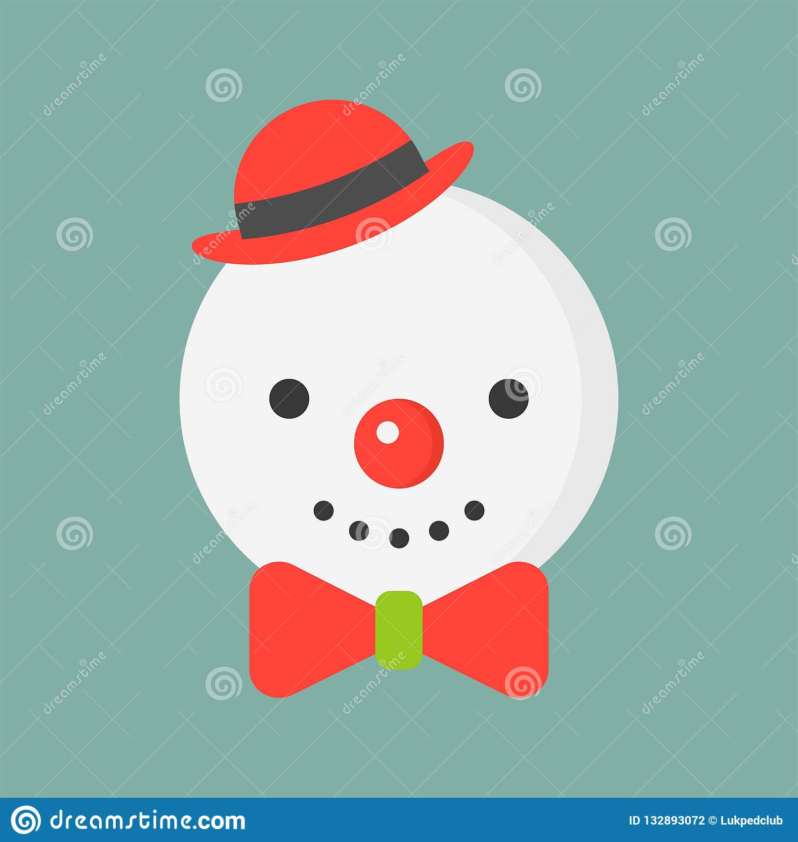 3a80e5413749d Snowman Icon In Flat Design For Use As Material In Christmas The ...