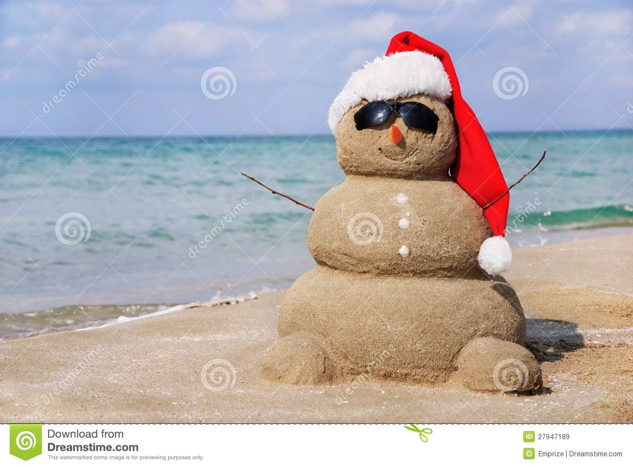 Snowman made out of sand