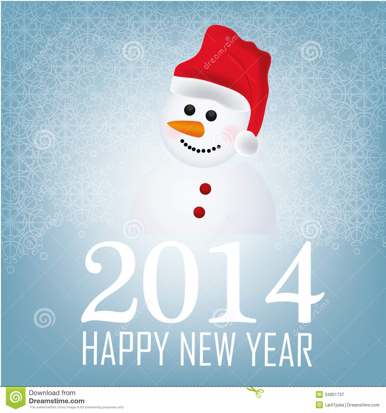 Snowman for new year royalty free stock photography