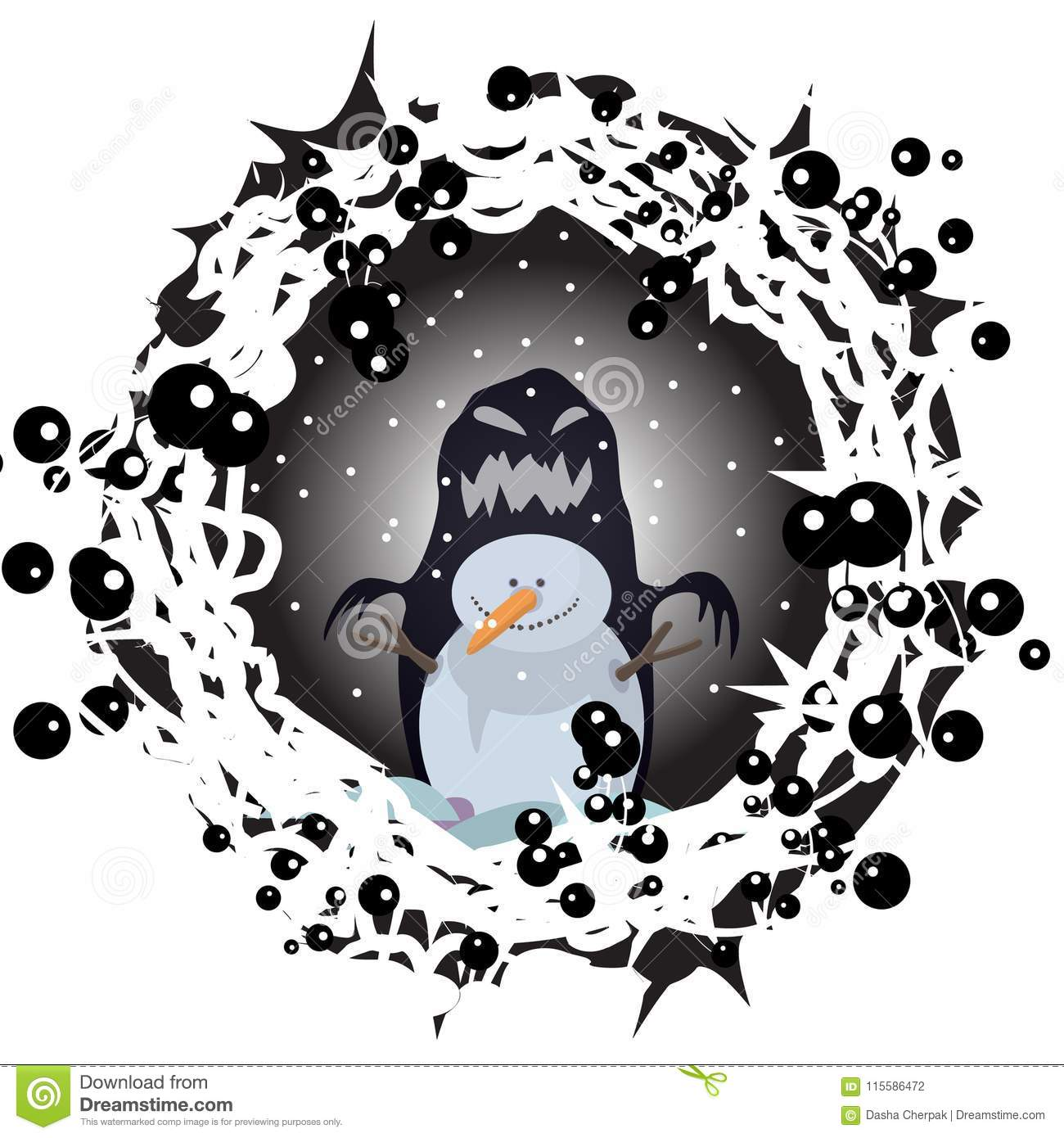 Tattoos Snowman Night Winter Halloween Character Cartoon Animation Print Nature Drawings For Children Vector Illustration Drawing Dreamstimecom Snowman Night Winter Halloween Character Cartoon Animation Print