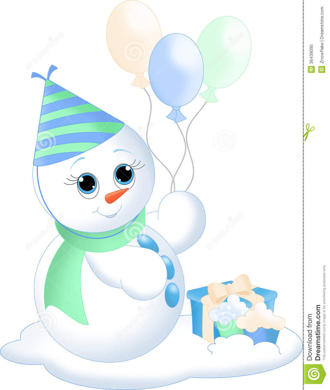 Snowman Party Royalty Free Stock Photo - Image: 36439095