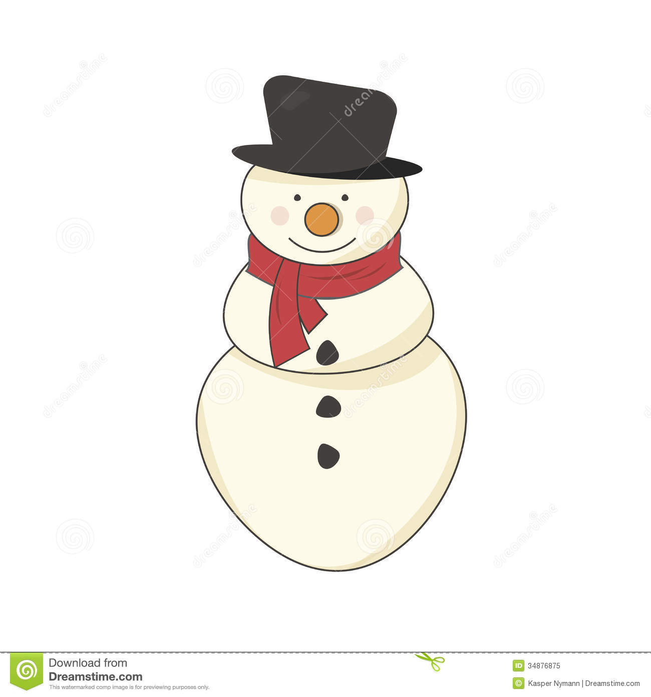 snowman with a scarf royalty free stock photo