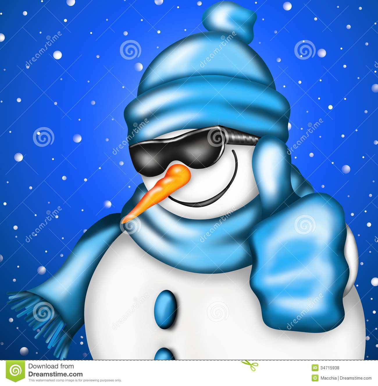 Snowman With Sunglasses Royalty Free Stock Photos - Image: 34715938