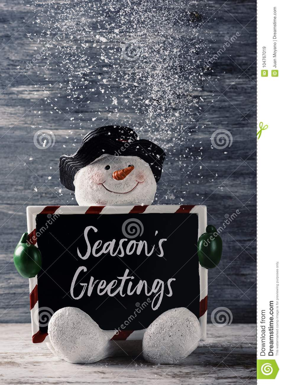 Snowman and text seasons greetings stock image image of greetings snowman and text seasons greetings m4hsunfo