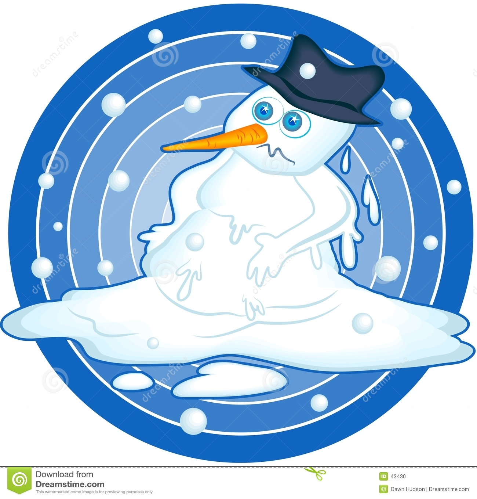 Snowman topnienia