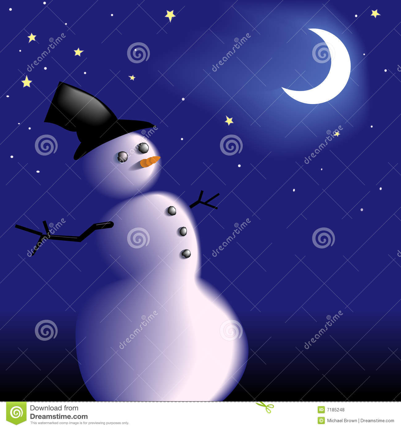 Royalty free stock photos snowman under frosty cold clear winter