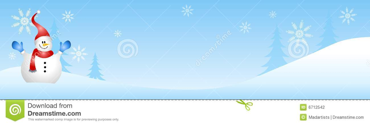 Snowman Winter Scene Stock Photography - Image: 6712542