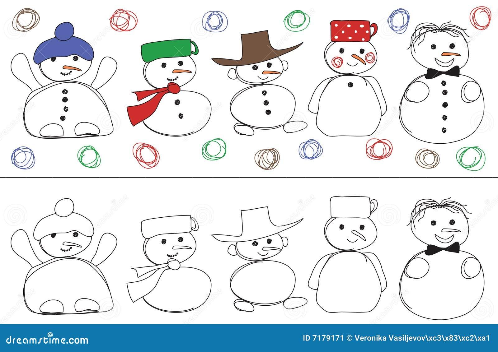 Snowmans διάνυσμα