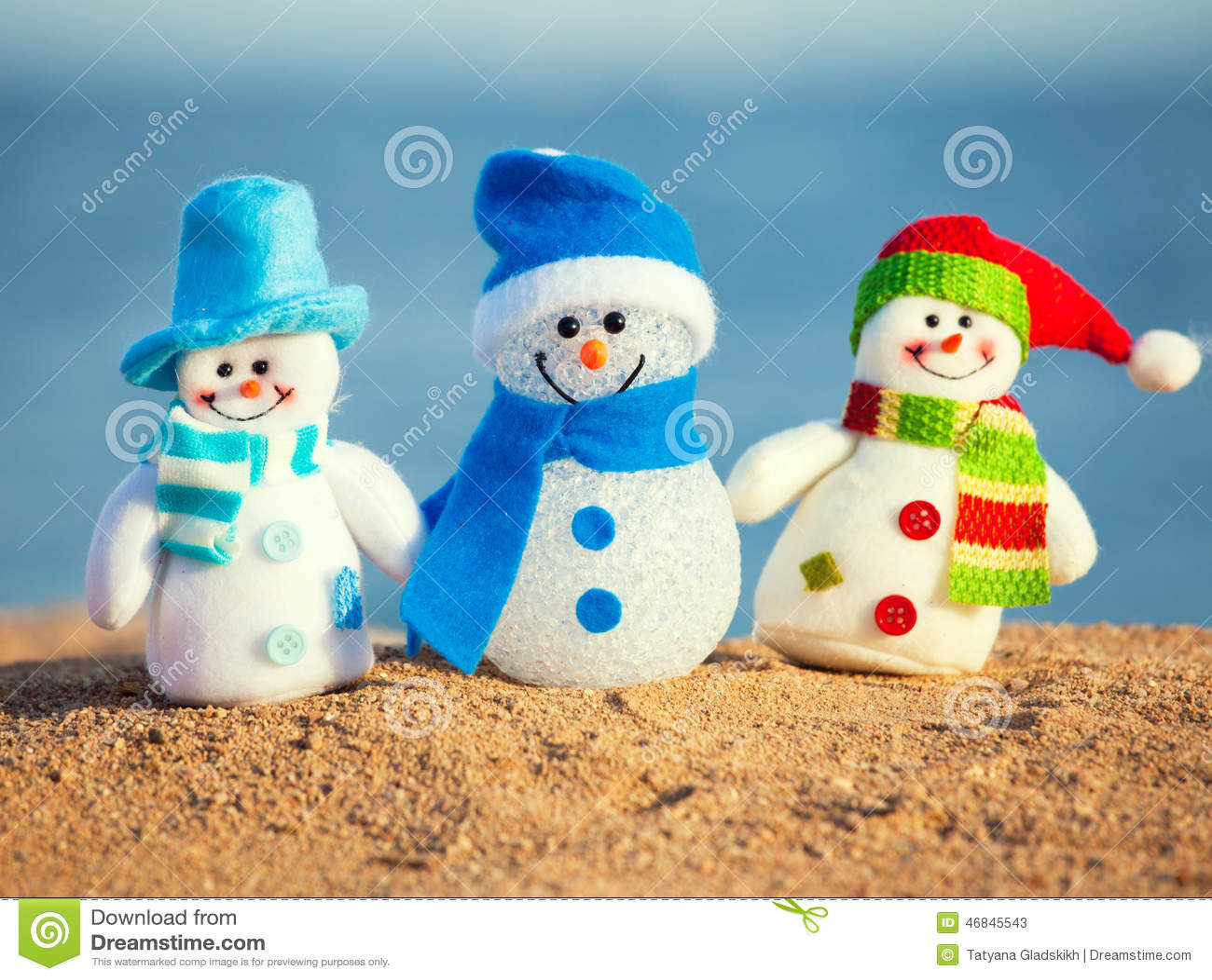 Snowmans på sand