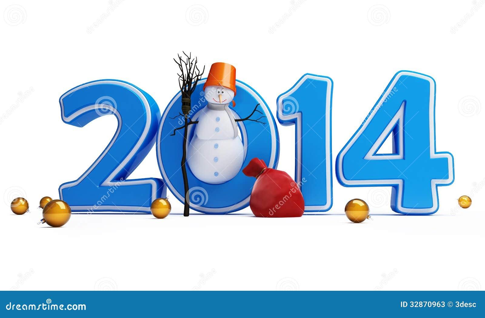 snowmen happy new year 2014 stock illustration illustration of