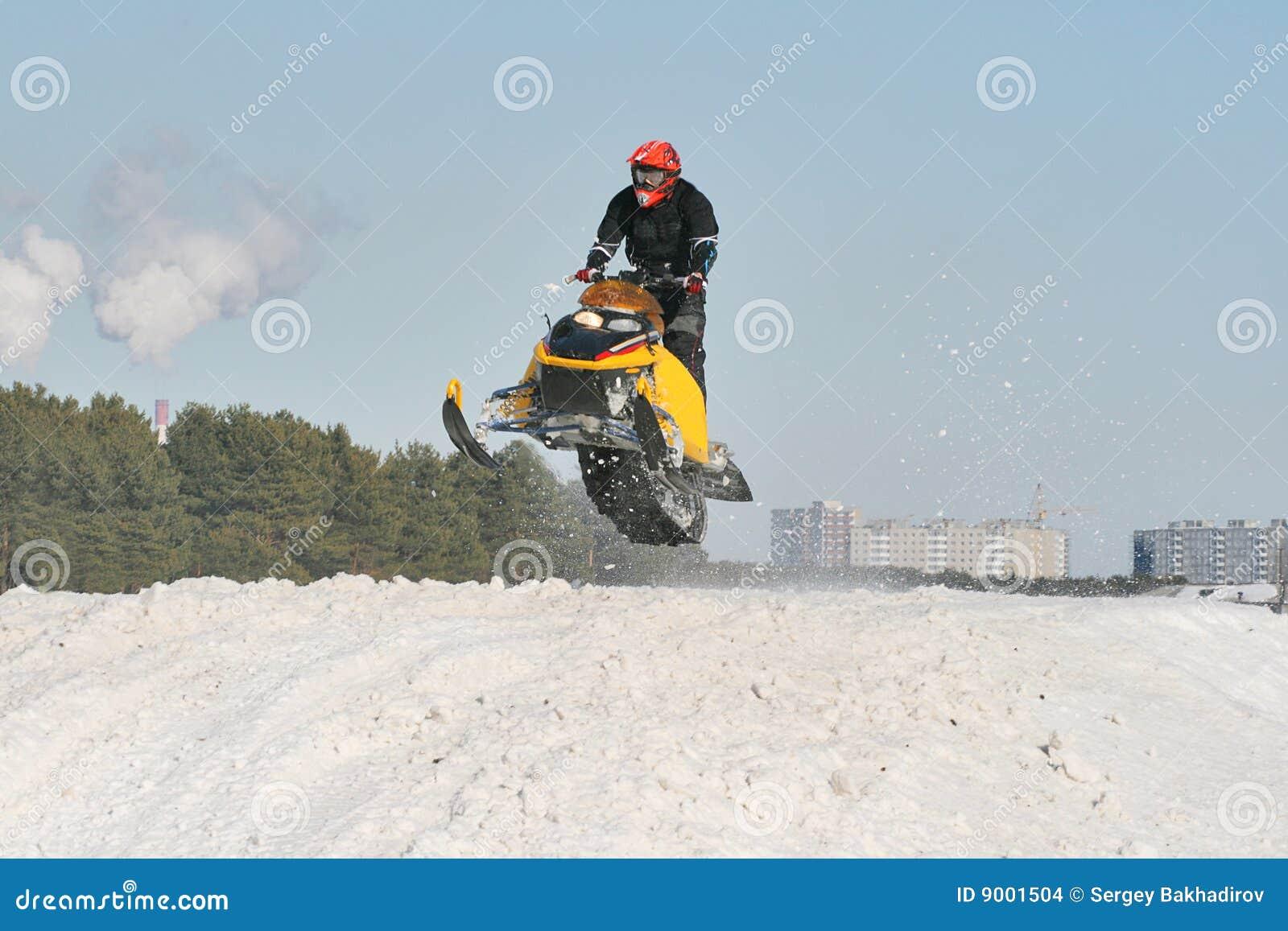 Snowmobile-Laufen