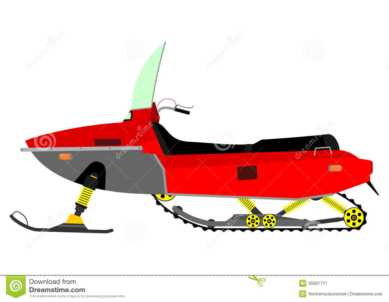 Snowmobile Stock Illustrations – 325 Snowmobile Stock ...
