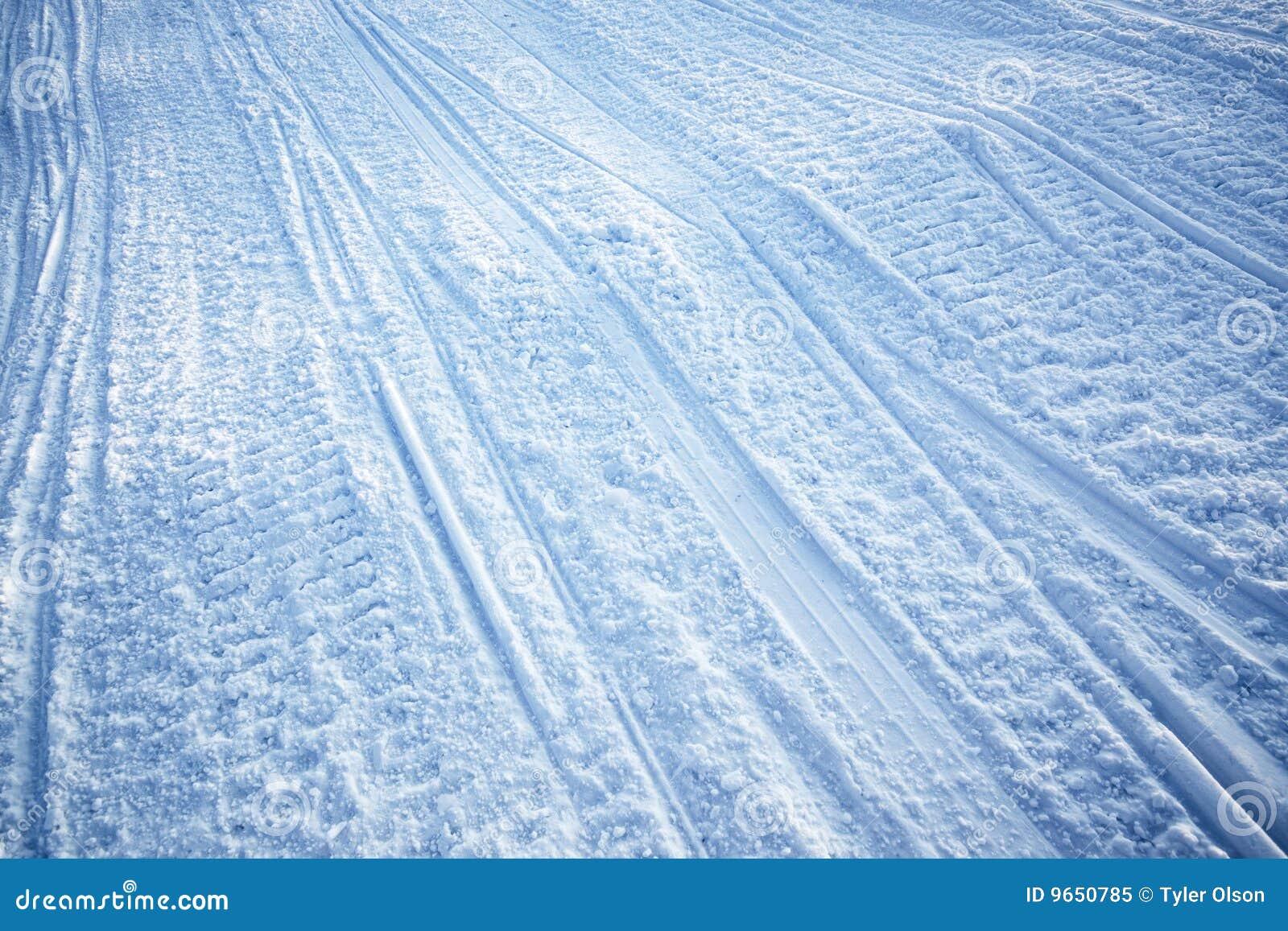 Snowmobiletexturspår