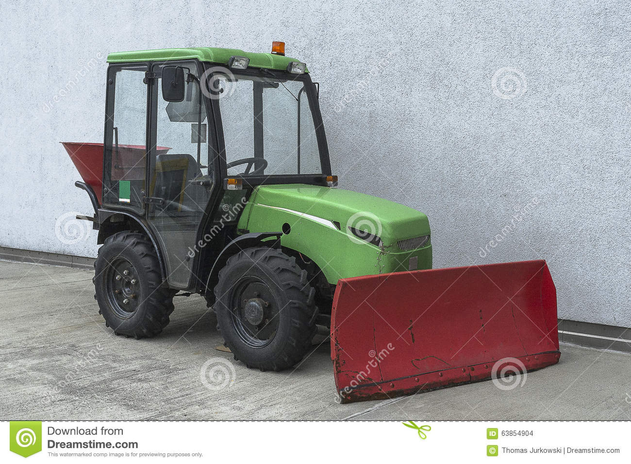 Snowplough tractor stock photo  Image of gallery, clear