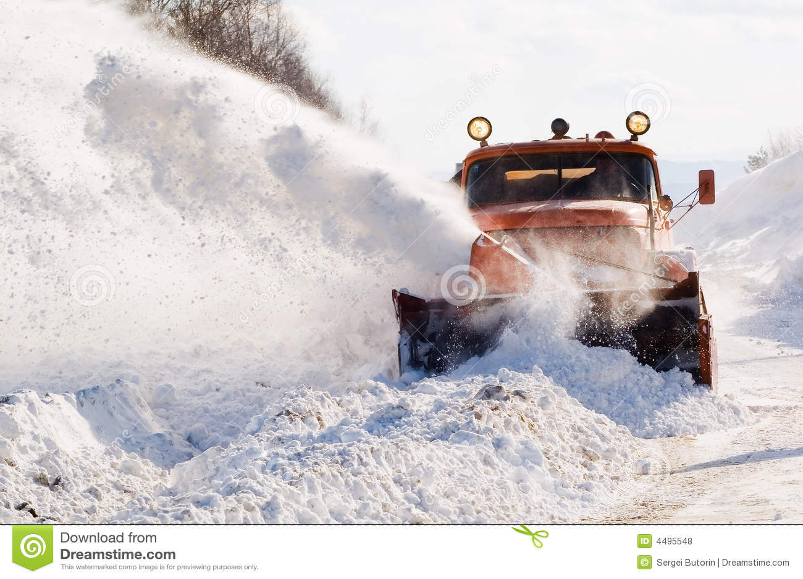 Snowplow at work