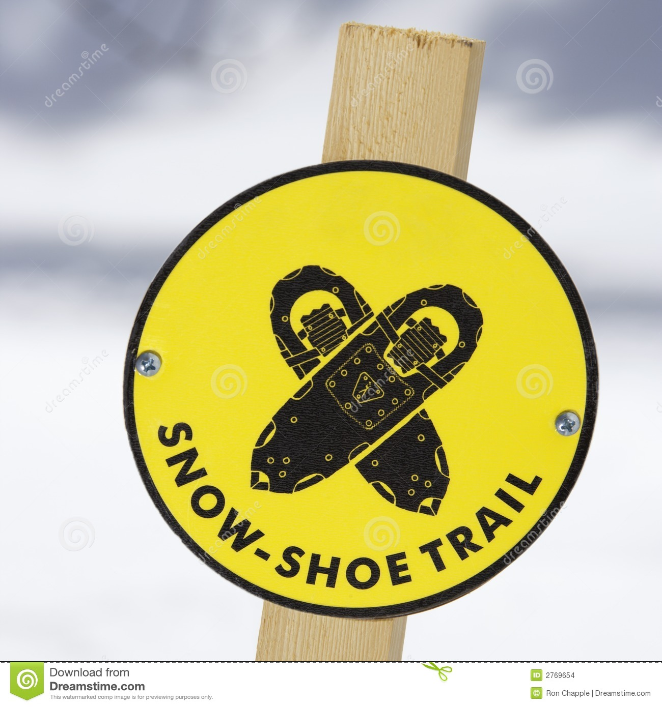 Snowshoe Trail Sign. Stock Images