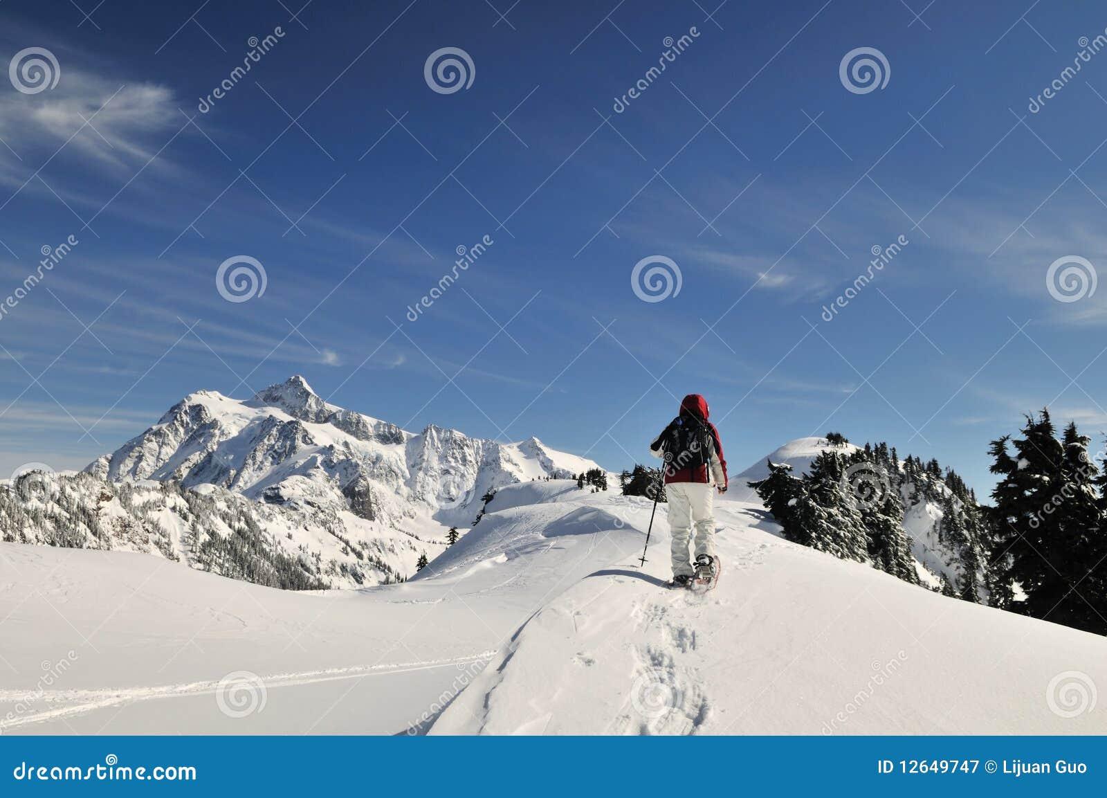 Snowshoeing in Mt Baker