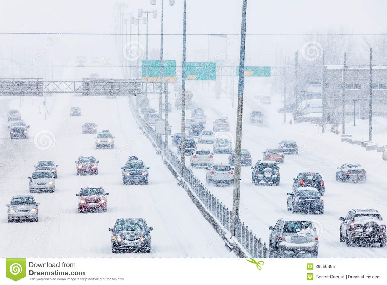 Diagram Of A Blizzard Snow Storm Trusted Wiring Plow Snowstorm On The Highway During Rush Hour Stock Image