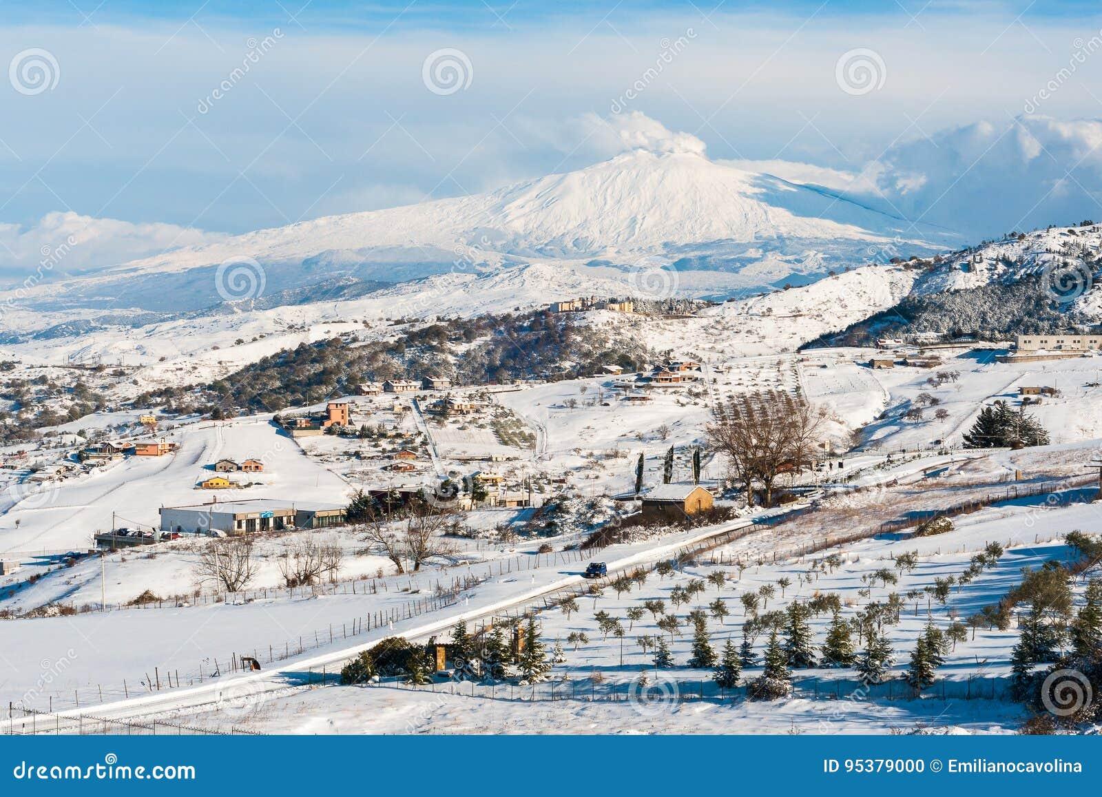 Snowy Ätna