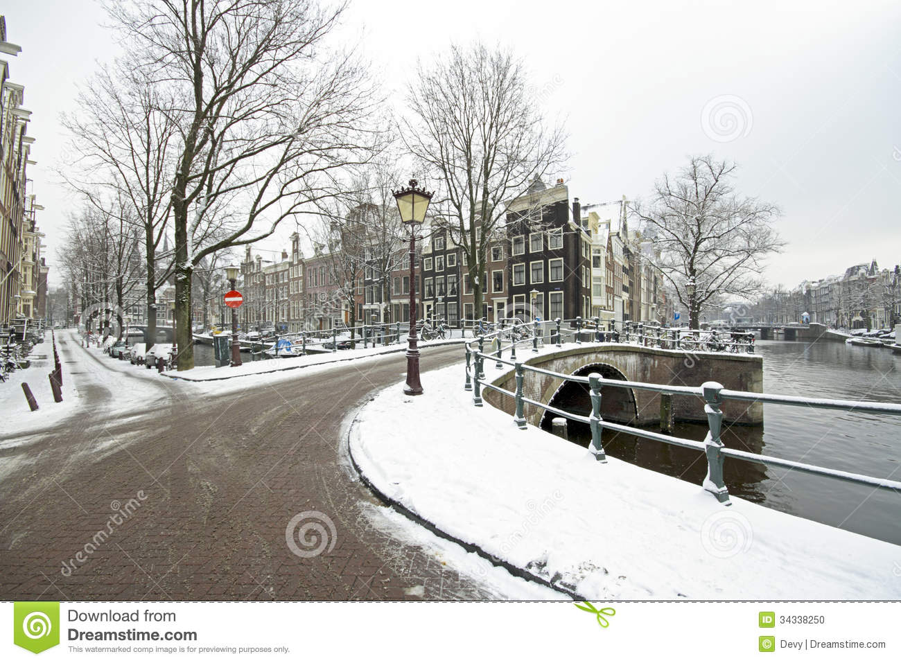 snowy amsterdam netherlands in winter stock photo image. Black Bedroom Furniture Sets. Home Design Ideas