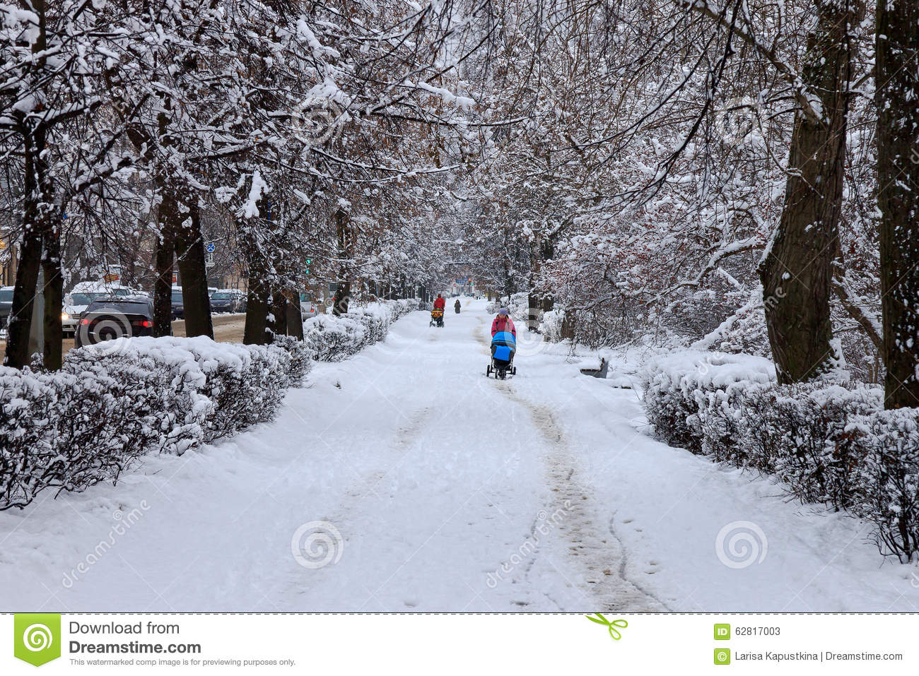 snowy city street editorial stock photo image of outdoors