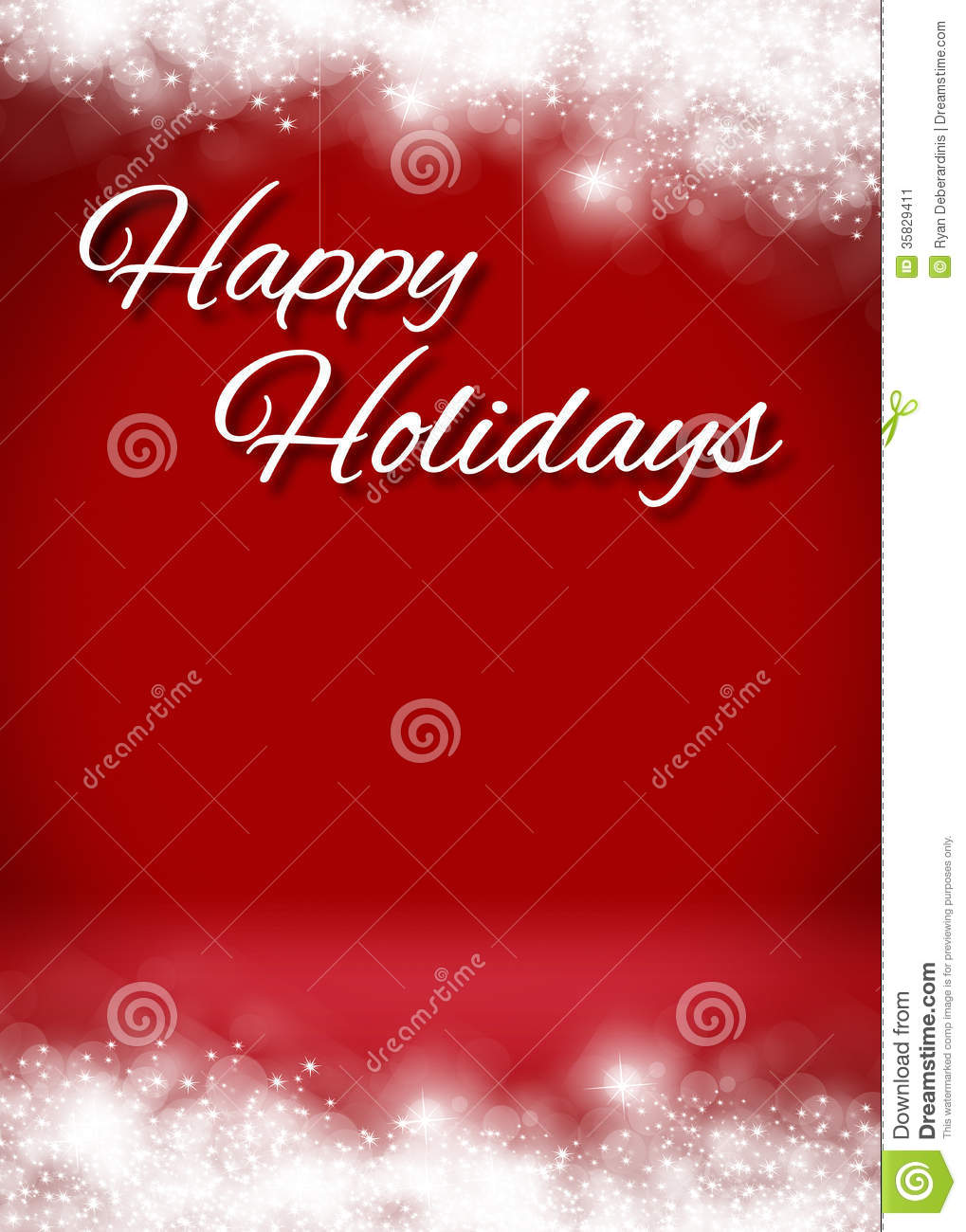snowy happy holidays 3d card background stage stock