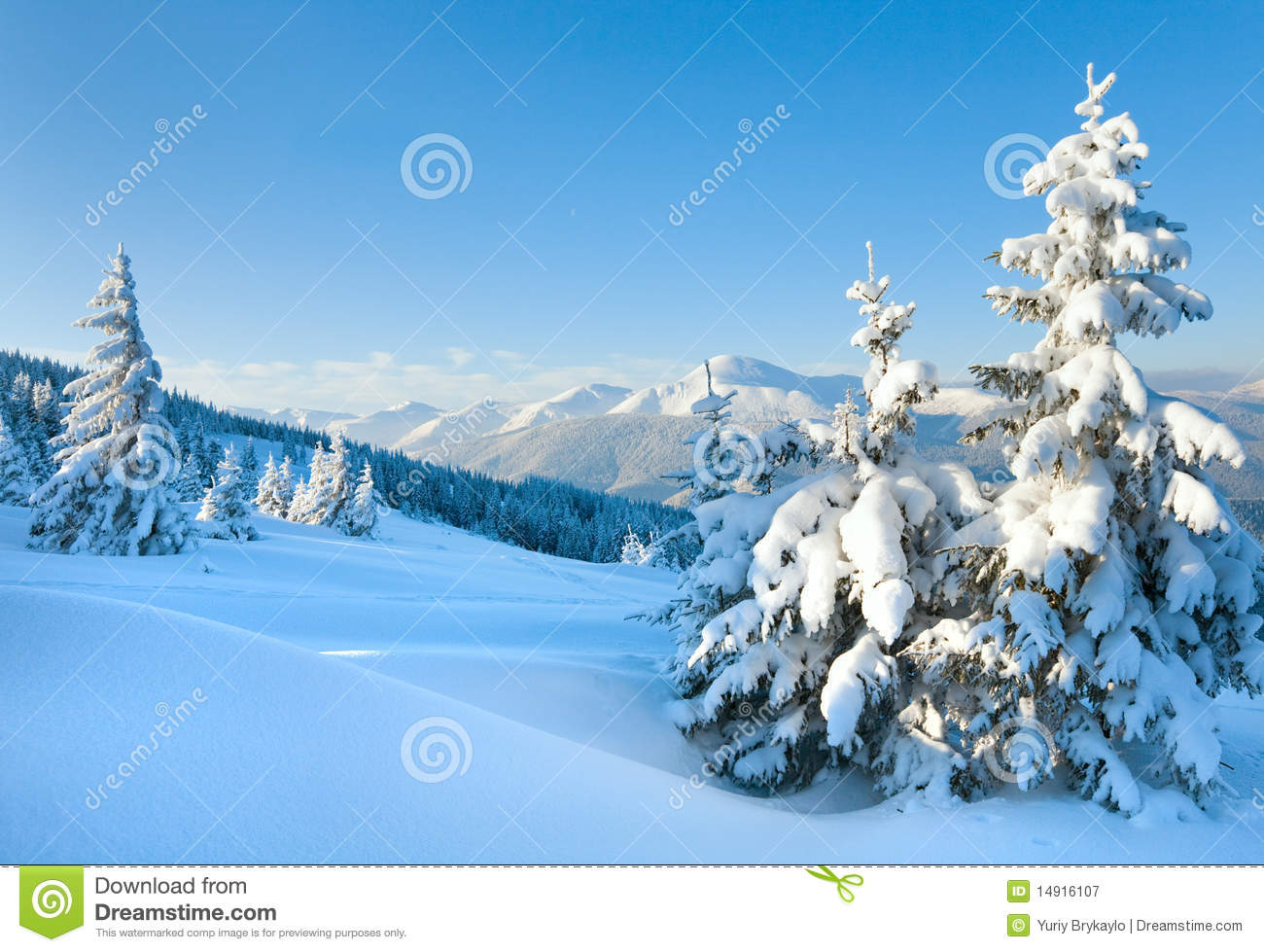 Snowy Landscape Royalty Free Stock Photography - Image: 14916107