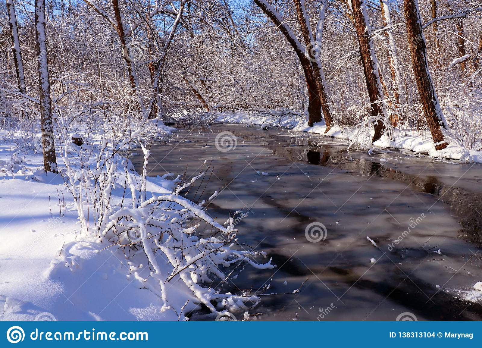 Saturday Morning Snow In Madison >> Beautiful Winter Morning After Snowfall Background Stock Photo