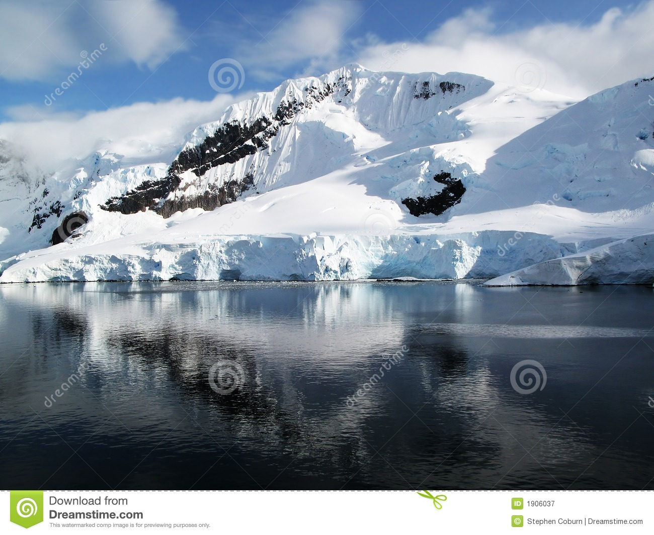 Snowy Mountain Landscape Royalty Free Stock Photography ...