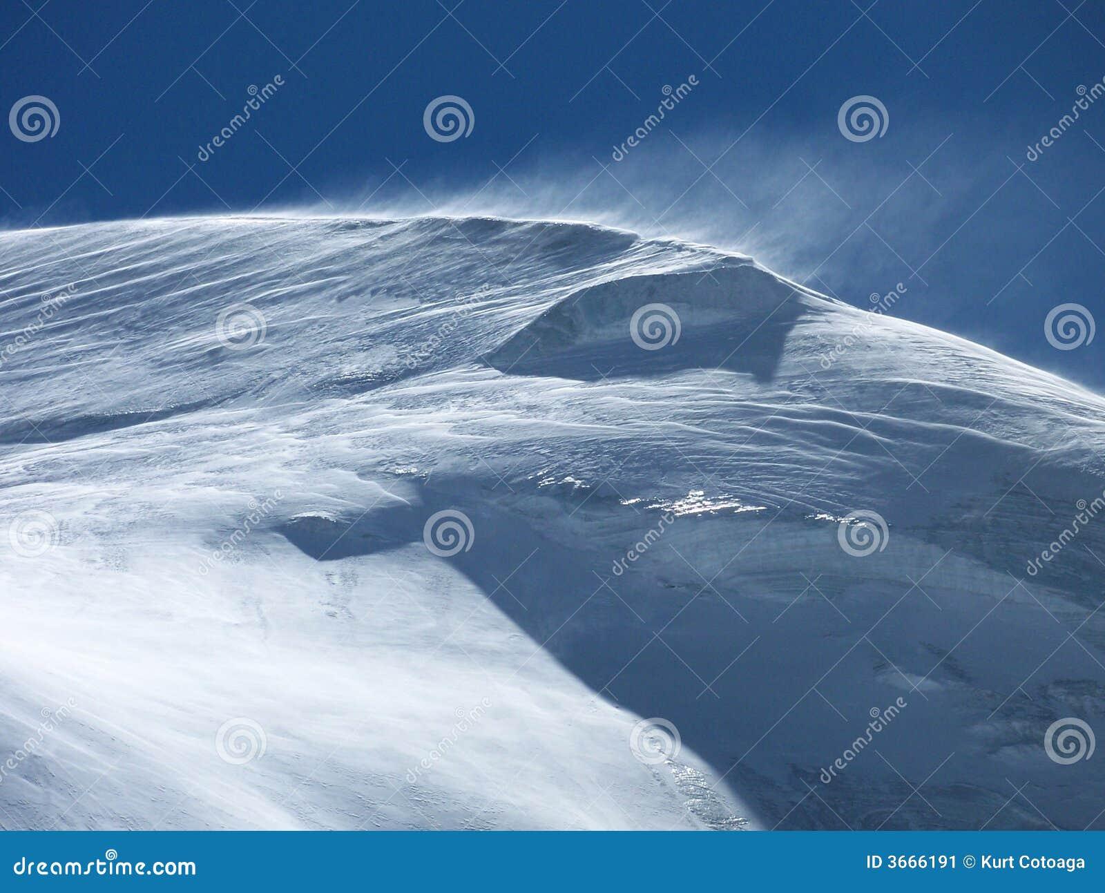 snowy mountain top