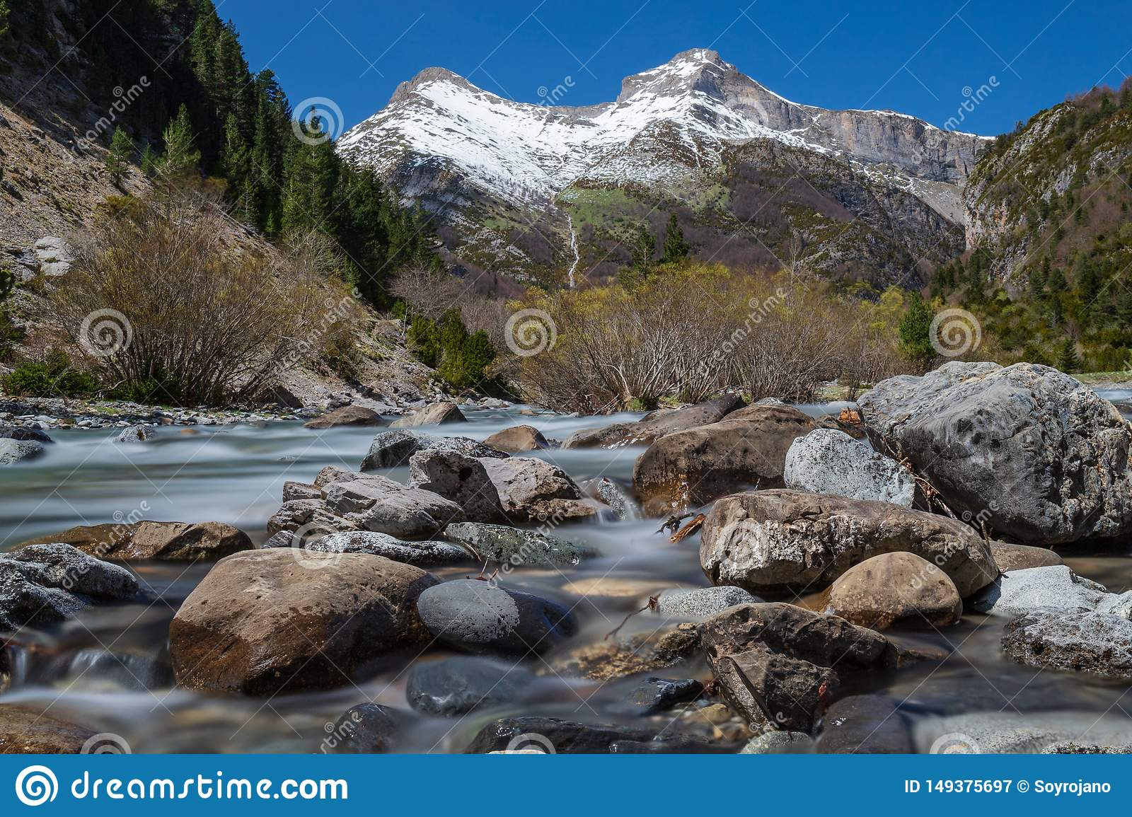 The Snowy Mountains & the river rocks