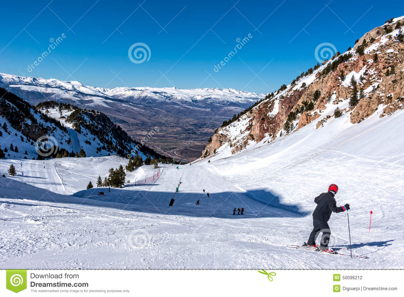 snowy mountains in spain stock photo. image of spain - 50096212