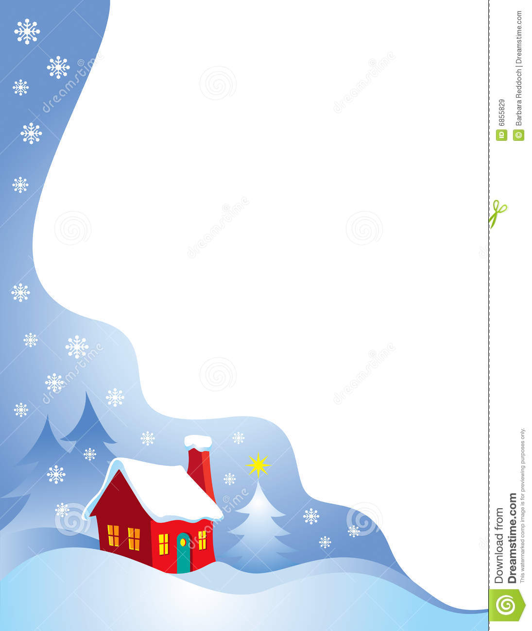 Snowy Night Christmas Border Stock Vector Image 6855829