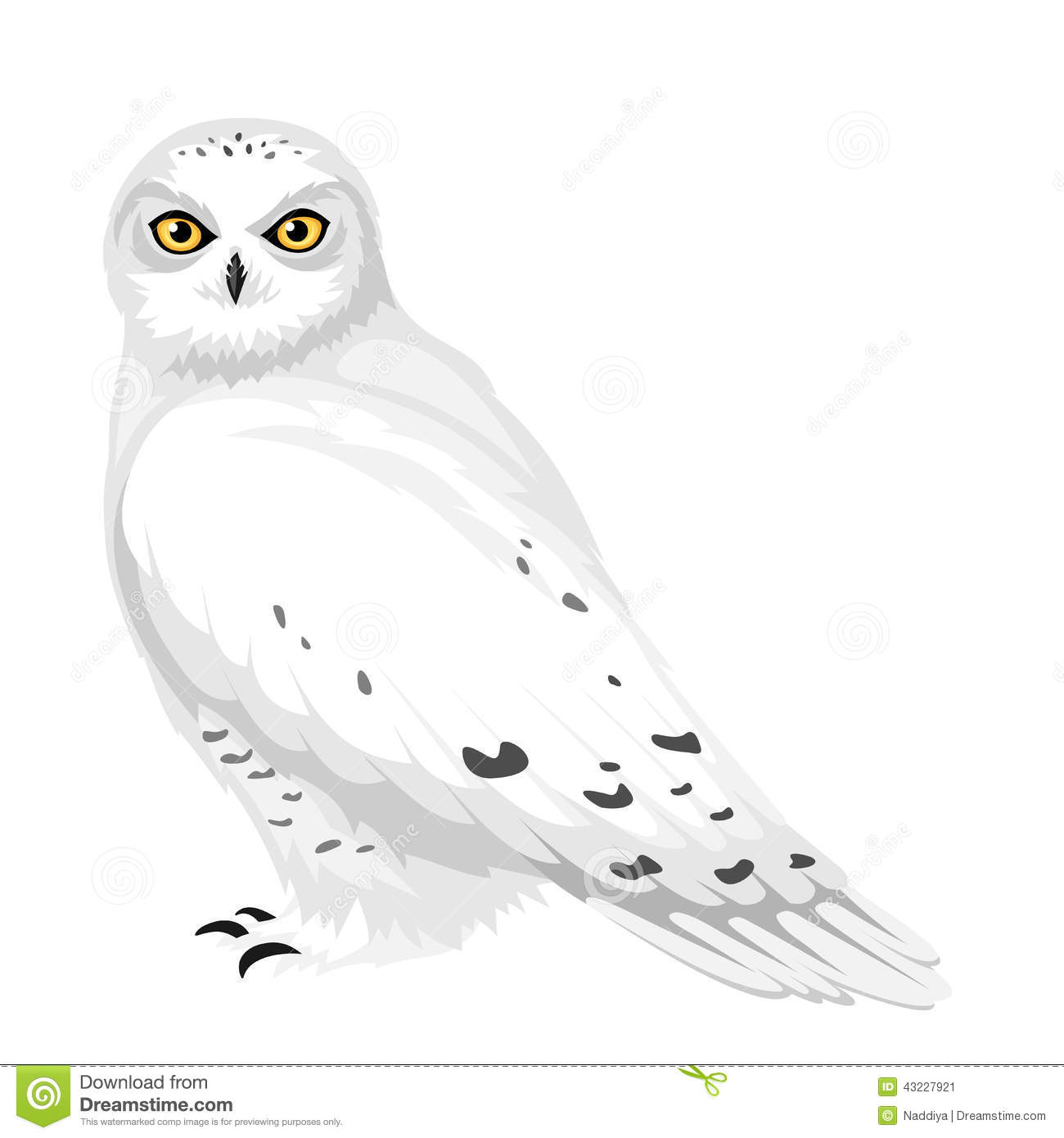 Snowy Owl. Vector Illustration. Stock Vector ...
