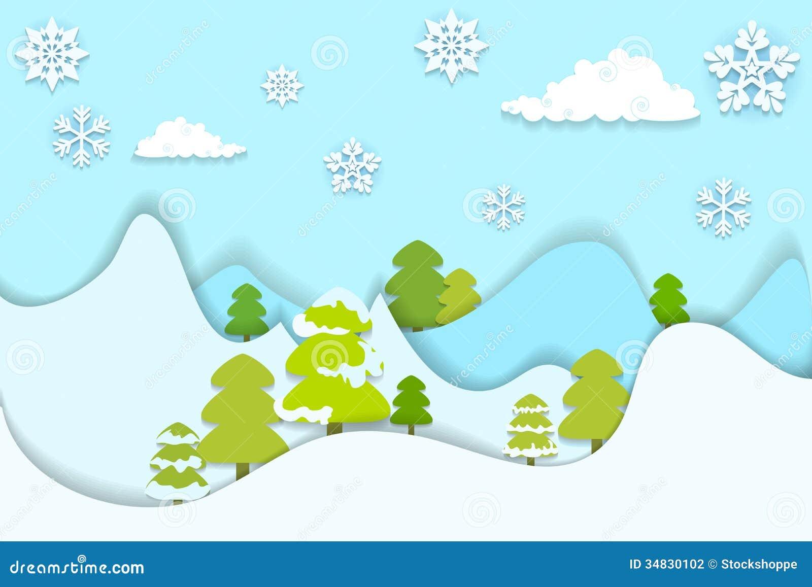 Snowy Pine Tree Vector