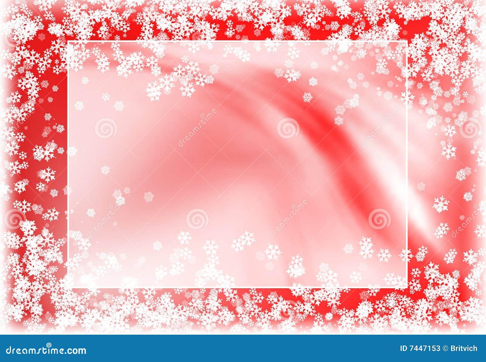Snowy red frame