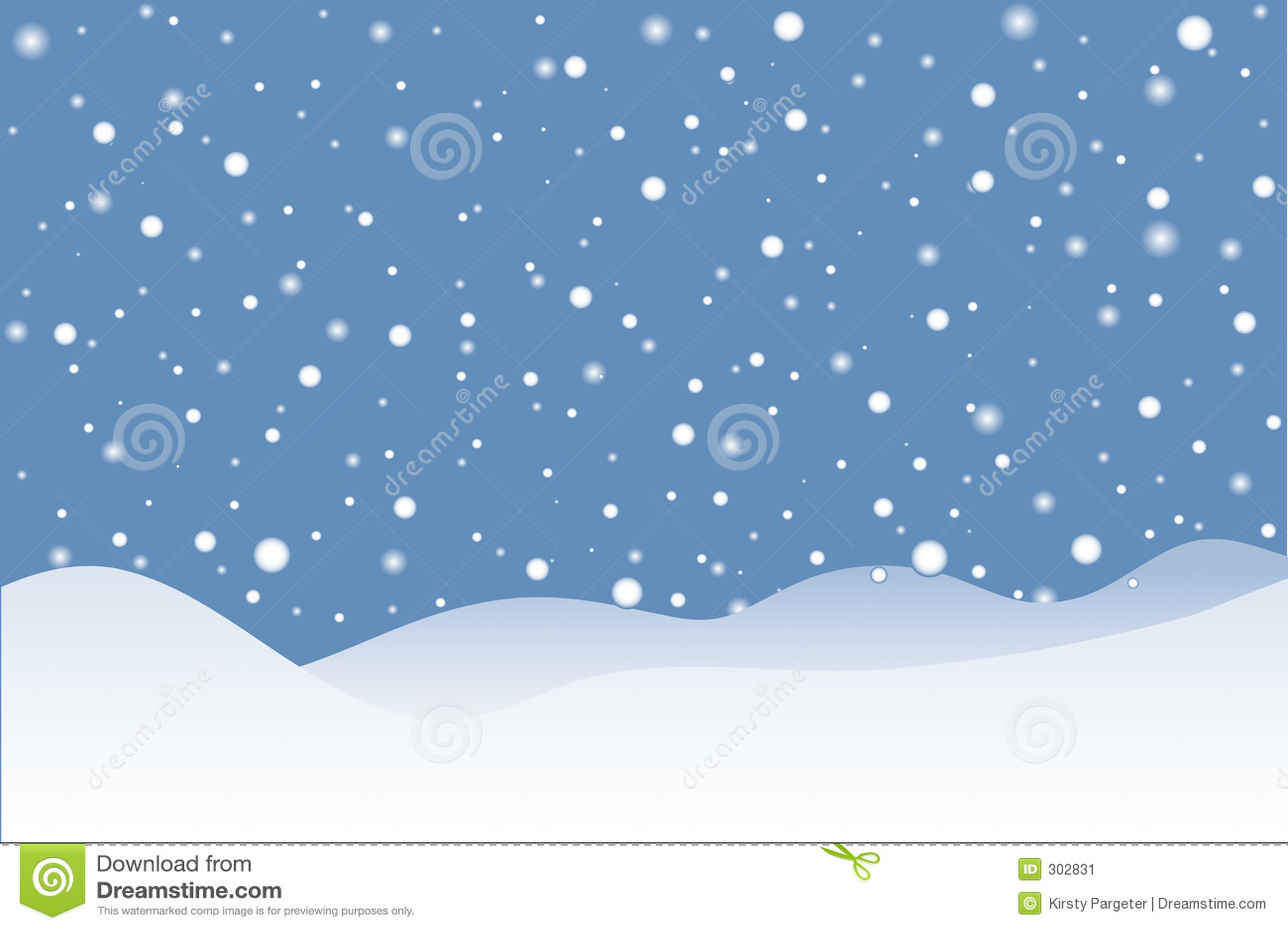 Snowy Scene Stock Image Image 302831