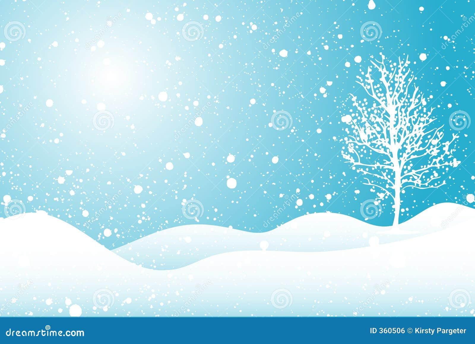 Snowy Scene Royalty Free Stock Image - Image: 360506