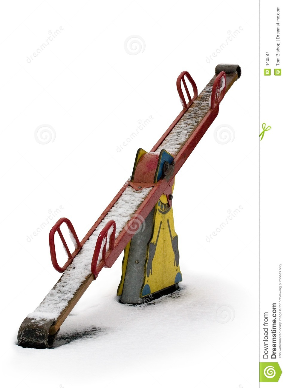 Snowy seesaw royalty free stock photography image 440587 for Seesaw plans designs