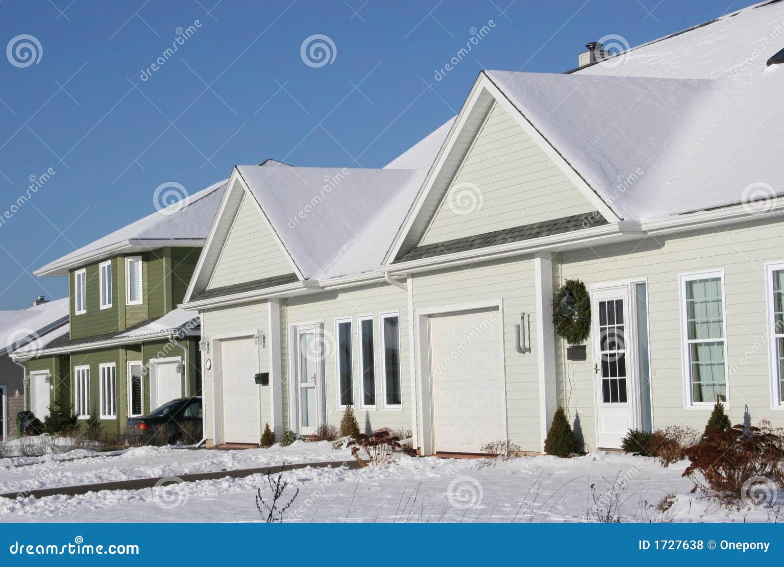 Wondrous Snowy Townhouses Stock Photo Image Of Freeze Driveway Interior Design Ideas Skatsoteloinfo