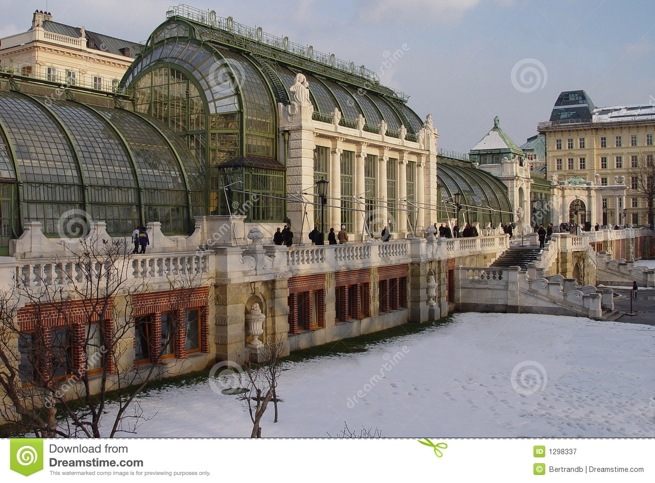 snowy vienna winter garden royalty free stock photography image