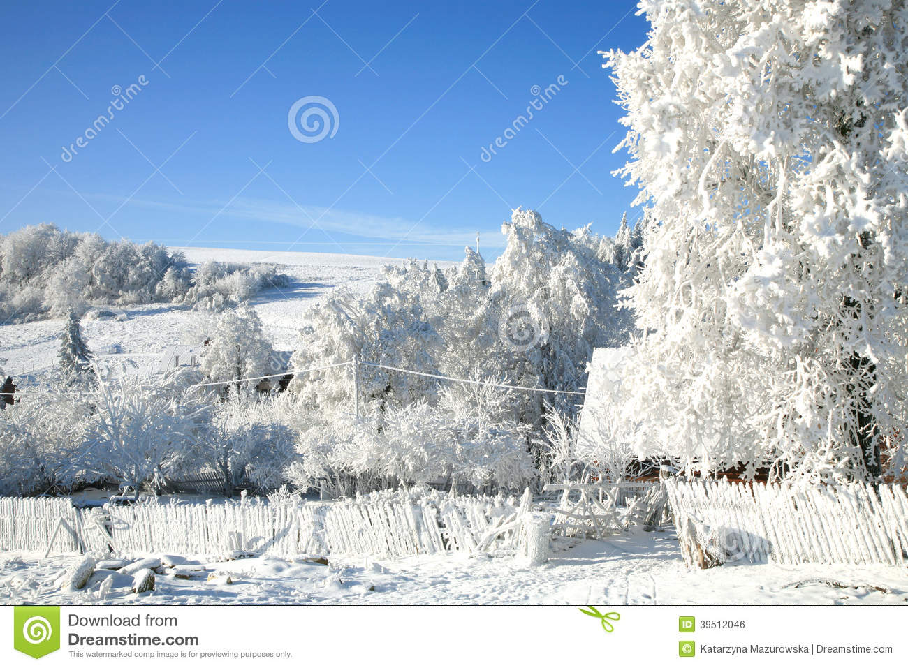 Snowy, winter country